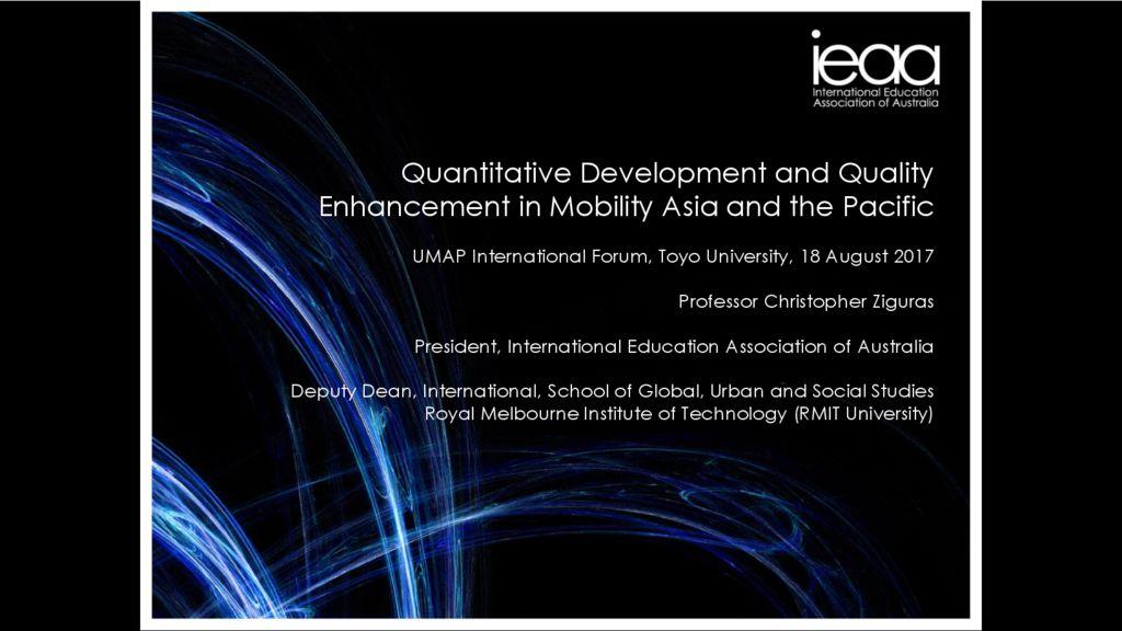 thumbnail of Prof. Christopher Ziguras UMAP Aug 2017